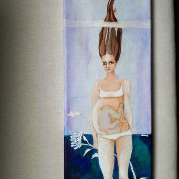 quadro_surrealista-madre-maternità-gravidanza-pancione-gestazione-liquido_amniotico-nuova_vita