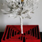 ecodesign-scultura_luminosa-lampada-artistica-labirinto_rosso-minotauro-asterione_luis_borges-albero_bianco-regalo_design-pezzo_unico