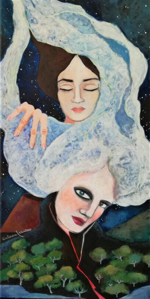 quadro_surrealista-simbolismo-lava-notte-nascita-diventare_madre-parto-vulcano-rinascita-nuova_vita-rigenerazione-metamorfosi-donna