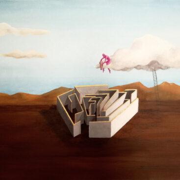 quadro_metafisico-coltivare_le_passioni_il_mestiere_dell'architetto_impegno_labirinto-scala-nuvola-architettura-giardiniere-pessoa-paesaggio_metafisico