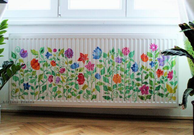Campo fiorito - Decorazione di un termosifone