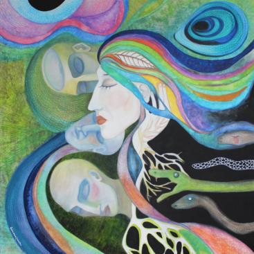 incubi-sogni-quadro-surrealista-teste-serpenti-multicolore-supercolorato-quadro-grande