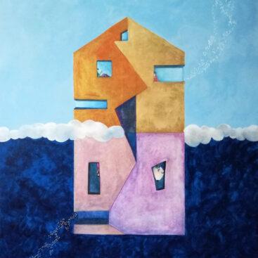 Casa-volante-pittura-naive-architettura-antipodi-opposti
