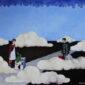 Le_nuvole_de_andre-quadro-surrealista-partenza-viaggio-saluto-addio-destini-strada-città