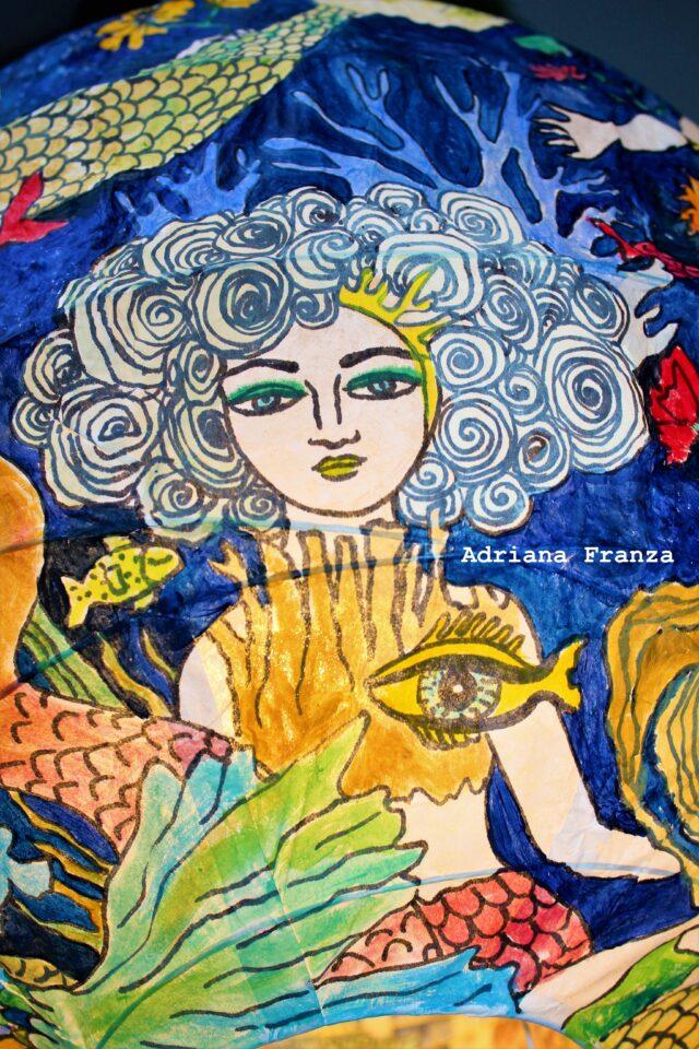 Sirene-lampadario-artistico-lanterna-dipinta