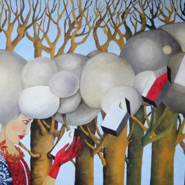 quadro_surrealista-nuvole_tempestose_anima-donna-ricordi-cambiamenti-nuova_vita-agitazione_emotiva