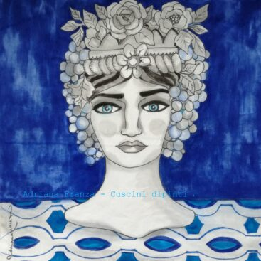 hand_painted_cushions-modern_moor_heads-turban-flowers-blue-hand_painted-unique_gift-home_decor-sicily-original_pillow_cases- noto-sicilian_memories