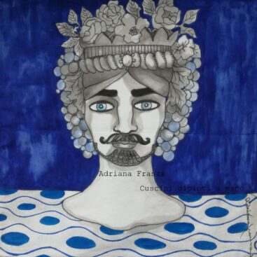 hand_painted_cushions-modern_moor_heads-turban-flowers-white_and_blue-hand_painted-unique_gift-home_decor-sicily-original_pillow_case- noto-sicilian_memories