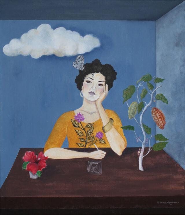 labirinto-ritratto-cacao-ibiscus-donna-surrealismo