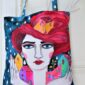 surrealist_painting-rain-red_hair-one_of_a_kind-hand_painted_bag-unique_gift