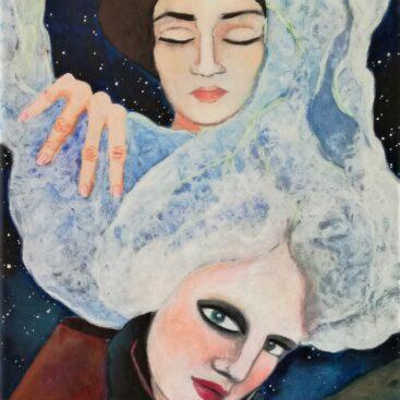 surrealist-painting-symbolism-lava-night-birth-becoming_mother-childbirth-volcano-rebirth-new_life-regeneration-metamorphosis-woman