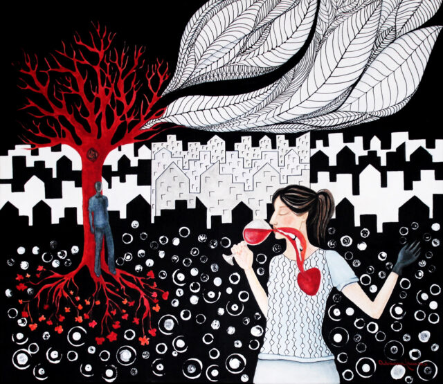 goblet-red-wine-symbolism-blood-life-energy-love-melancholy-surrealism-graphic-white-black-red-painting