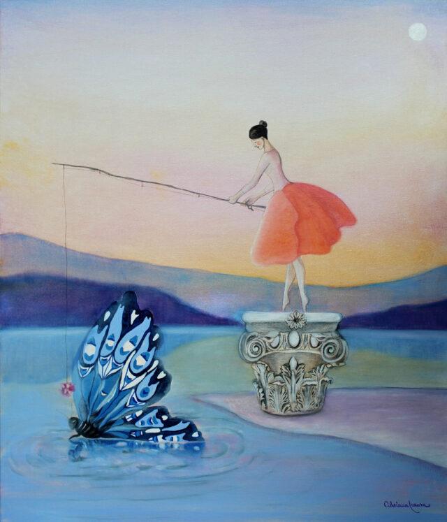 corinthian-capital-dancer-lake-surrealist-painting-dream-symbolism
