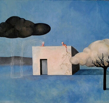 surrealism-clouds-trees-parallelism-nature-man-lightning-rain-surrealist-painting-quoting-chema-madoz