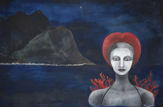 surrealist_painting-palermo-monte_pellegrino-sea-night-eleonora_d'aragona-sculpture-gagini-reinassance-palazzo_abatellis-oneiric_painting-memories-corals-metaphysical_ art
