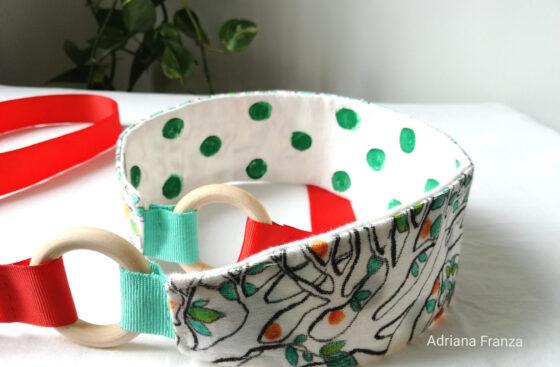 handcrafted_belt-hand_painted-obi-belt-branches-citrus-leaves-oranges-doubleface-elegant-colorful