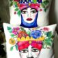 hand_painted_cushions-modern_moor_heads-turban-red-pomegranate-flowers-hand_painted-unique_gift-home_decor-sicily-original_pillow_case-noto-sicilian_souvenir