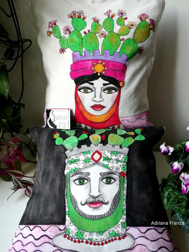 unique_cushions_moor's_heads_prickly_pears-sicilian-folklore_sicilian_ceramic_heads_sicily_arabian_traditions_moorish_heads_turkish_heads-artistic_souvenirs_sicilian-cushions_hand_painted-homedecor_-unique-gift-decorated_by_hand-pillow-case