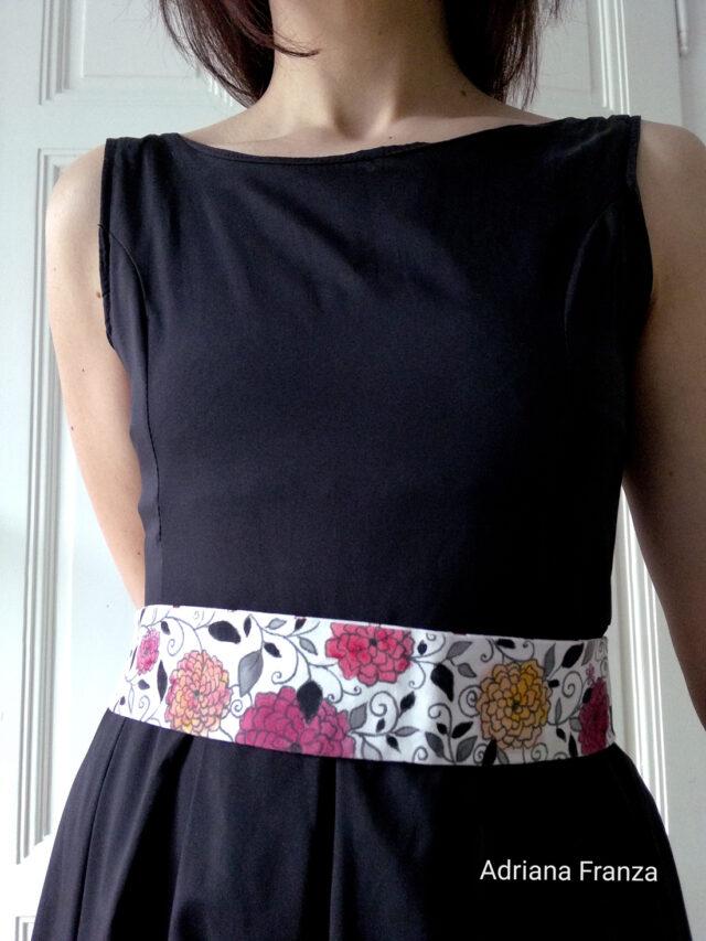 dalia-cintura-moda-noto-artigianale-dipinta-fiori-doubleface-obi-elegante