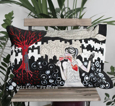 unique_pillow_case-goblet-red-wine-symbolism-blood-life-energy-love-tree-of-life-melancholy-surrealism-graphic-white-black-red-hand_painted_cushion-unique_gift-home_design