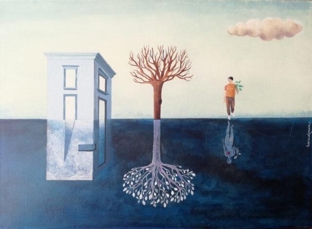 quadro_metafisico-quadro_surrealista-realtà_doppia- jung-psicologia-inconscio-denteo-fuori-anima-esteriorità-confitto_interiore