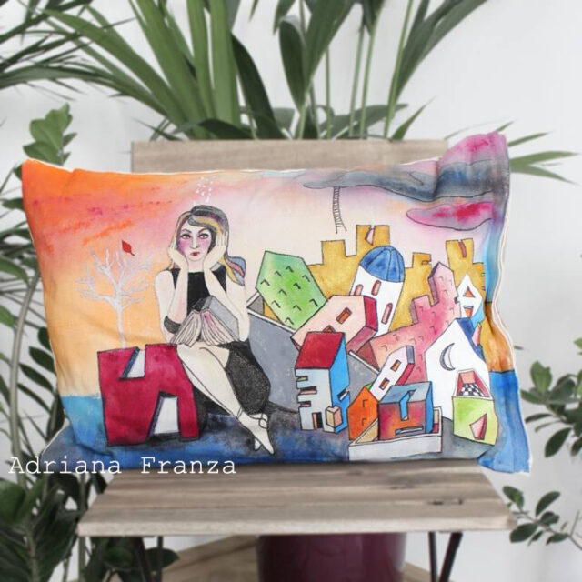hand-painted_cushion-homedecor_piece_unique_surrealism-psychology-colored_architecture_case_tree_landscape-gift-design-home-one_of_a_kind