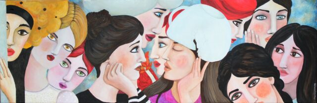 women-faces-colorful-painting-