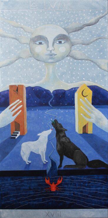 tarocchi-quadro-luna-inconscio-arte-simbolismo