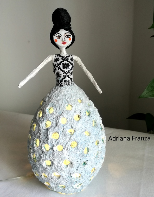 sicilian_cool_design_object-ecodesign-shabby_chic_lamp-hand-made-papier-mâché-home_decor-sicilian_recycle_design-fairytale-mood-lights-table_lamp_one_of_a_kind_unique_present_artistic_souvenir_sicily-noto-sicilian_gifts-hand_painted_statuette-paper-mache-flora-black_and_white