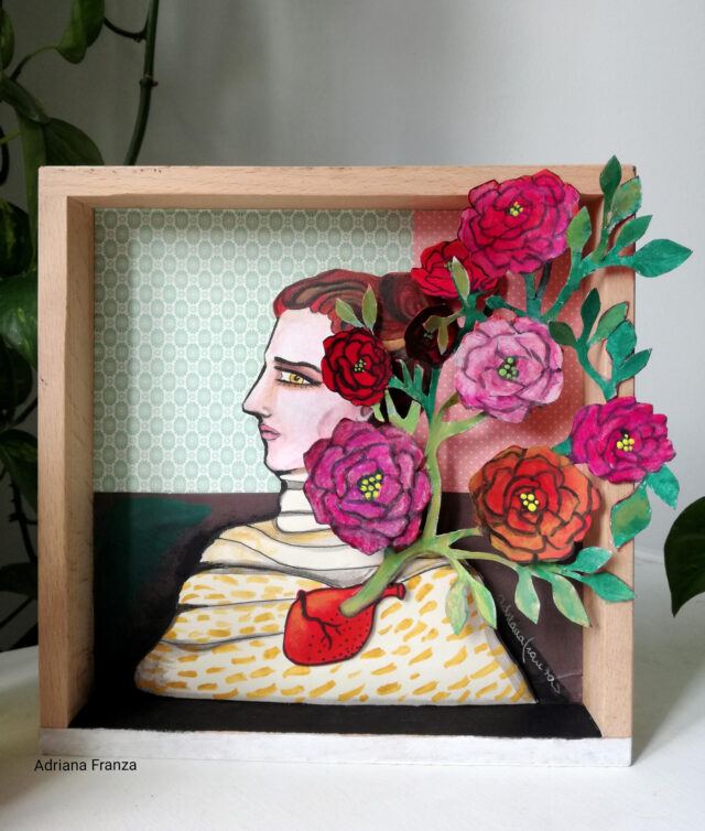 A heart-surrealist-paper_flowers-special-gift-painting