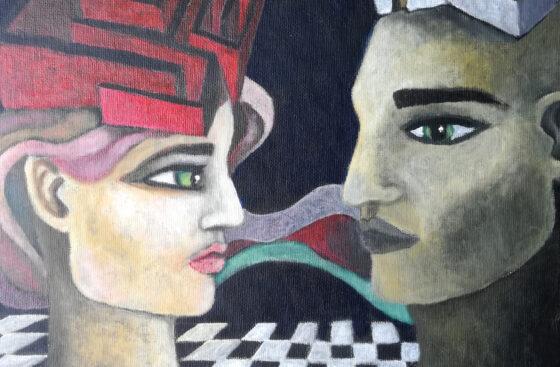Houses- Acrylic on canvas cardboard /30x40 cm
